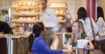 Enjoy coffee, pastries, great conversation; The Bakery Café by illy, CIA Greystone in St. Helena, CA