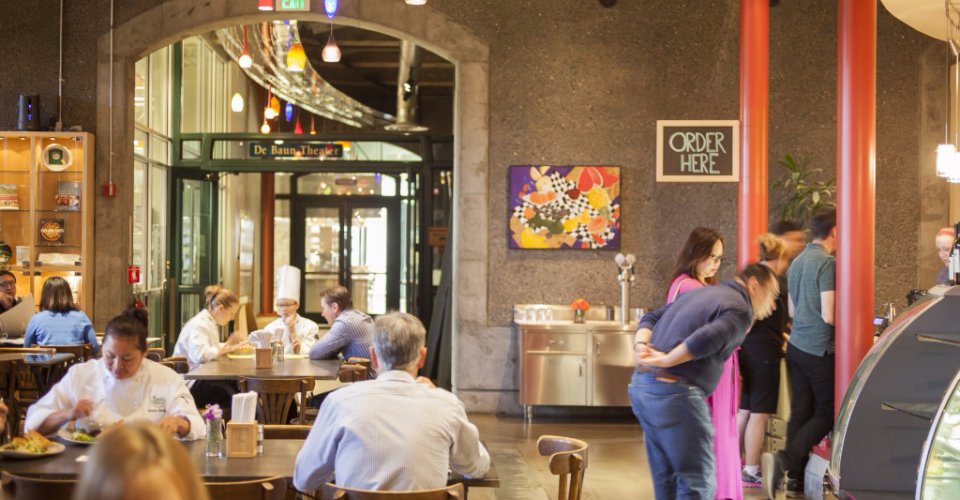 Interior of The Bakery Café by illy, located at the CIA at Greystone in St. Helena, CA.