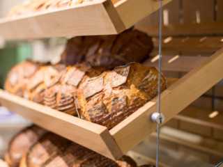 Freshly baked bread at The Bakery Café by illy, located at the CIA at Greystone in St. Helena, CA.