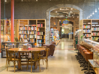 Interior of The Bakery Café by illy, at the The Culinary Institute of America in St. Helena, CA.