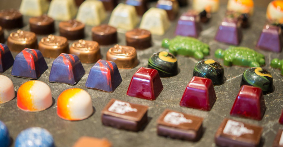 Handmade chocolates available in a variety of flavors (and shapes)
