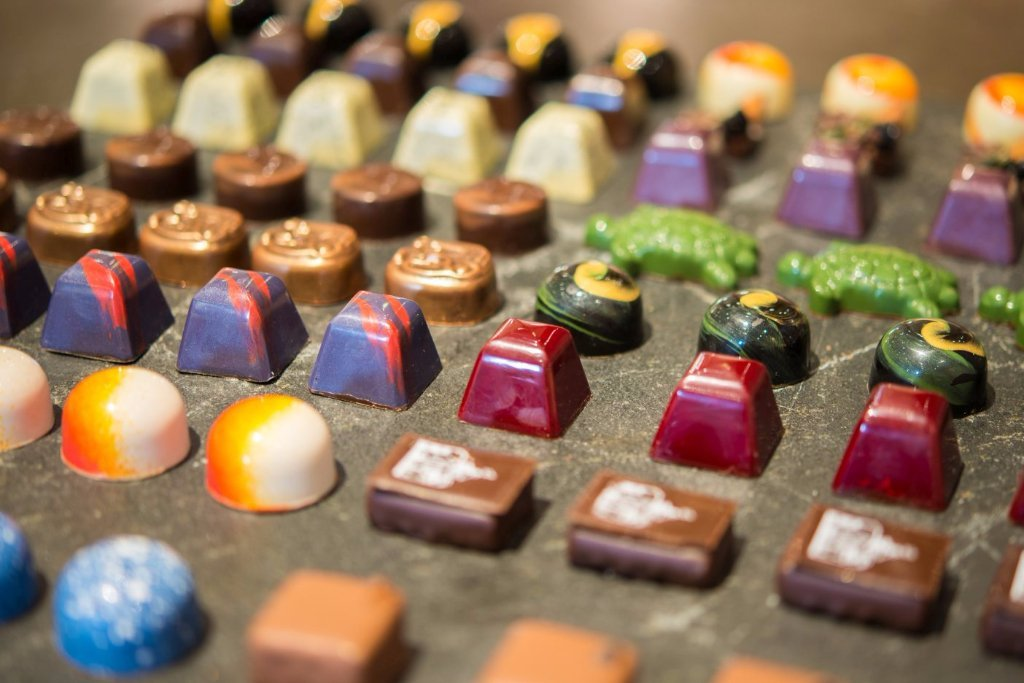 Handmade chocolates in a variety of flavors, The Bakery Café by illy, CIA at Greystone in St. Helena