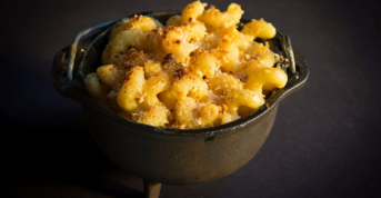 Mac & cheese with aged cheddar, gruyere & fontina cream sauce at The Bakery Café by illy, St. Helena